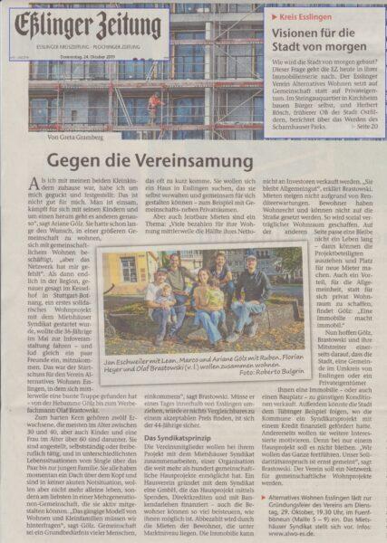 ALWO in der Esslinger Zeitung