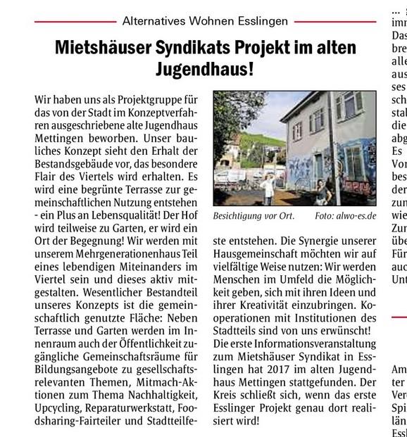 Esslinger Zwiebel vom 01. Oktober 2020